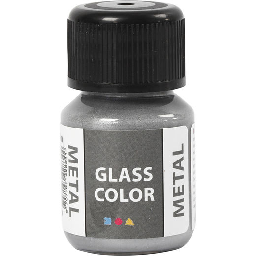 GlassColor Metal -maali, hopea 35ml