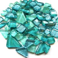 SoftGlass Glitter Turkoosi Mix, Aqua Shores Mix