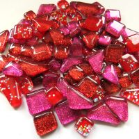 SoftGlass Glitter Punainen-Pinkki Mix, Gala Red Mix