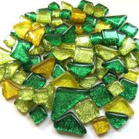 SoftGlass Glitter Vihreä-Keltainen Mix, Lemon Lime Mix