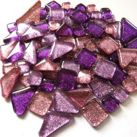 SoftGlass Glitter Lila-Purppura Mix, Pom Pom Purple Mix