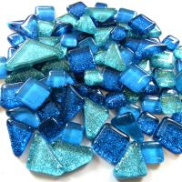 SoftGlass Glitter Sininen-Turkoosi Mix, Sea Sparkle Mix