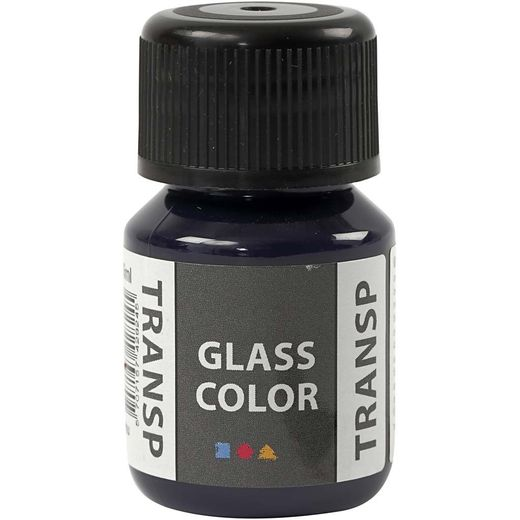 GlassColor Transparent -maali, laivastonsininen 35ml